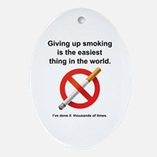 Giving Up Smoking Ornament (Oval)
