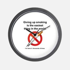 Giving Up Smoking Wall Clock