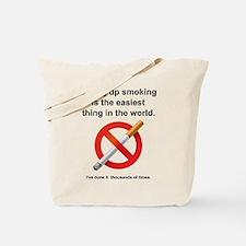 Giving Up Smoking Tote Bag