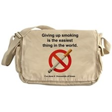 Giving Up Smoking Messenger Bag