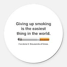 Giving Up Smoking Round Car Magnet
