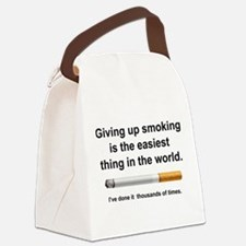 Giving Up Smoking Canvas Lunch Bag