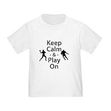 Keep Calm and Play On (Football) T-Shirt