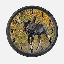 Bull walking Large Wall Clock