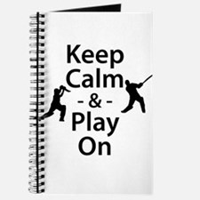 Keep Calm and Play On (Cricket) Journal