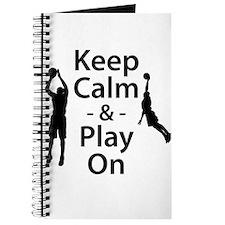 Keep Calm and Play On (Basketball) Journal