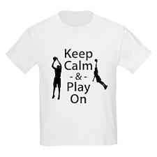Keep Calm and Play On (Basketball) T-Shirt