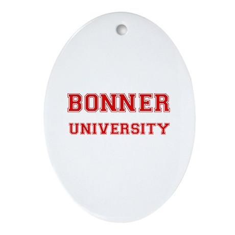 BONNER UNIVERSITY Oval Ornament