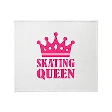 Skating Queen Throw Blanket