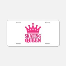 Skating Queen Aluminum License Plate