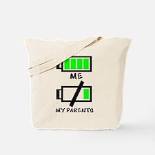 Battery Life Tote Bag