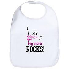 My Big Sister Rocks - Pink Guitar Bib