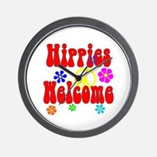 Hippies Welcome Wall Clock