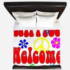 Hippies Welcome King Duvet