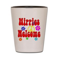 Hippies Welcome Shot Glass