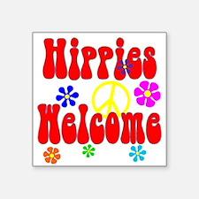 Hippies Welcome Sticker