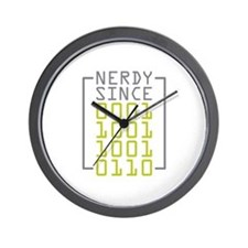 Nerdy Since 1996 Wall Clock
