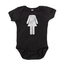 Funny Female Toilet Sign Fancy Dress Costume Baby