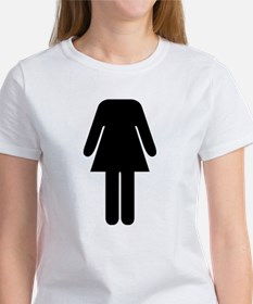 Funny Female Toilet Sign Fancy Dress Costume T-Shi
