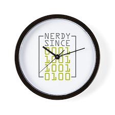 Nerdy Since 1994 Wall Clock