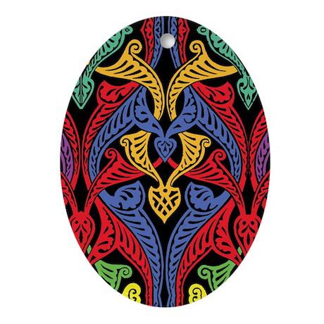 Colored 19th Century Pattern Ornament