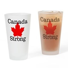 Canada Strong Drinking Glass