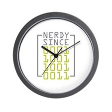 Nerdy Since 1993 Wall Clock