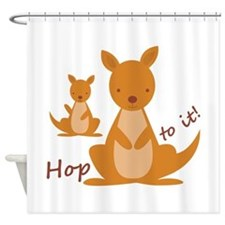 Hop To It Shower Curtain