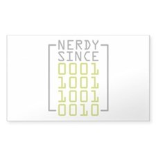 Nerdy Since 1992 Decal