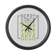 Nerdy Since 1992 Large Wall Clock