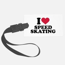 I love Speed skating Luggage Tag