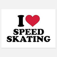 I love Speed skating Invitations