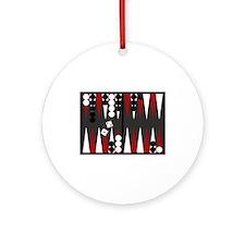 Backgammon Ornament (Round)