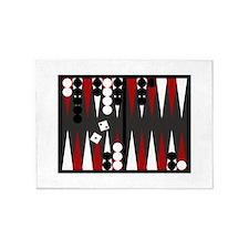 Backgammon 5'x7'Area Rug