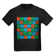 Cool trendy musical notes pattern T-Shirt