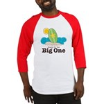 Ready For the The Big One Surf Red Baseball Jersey