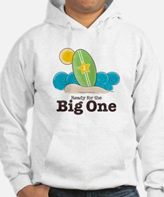 Ready For The Big One Surf Grey Jumper Hoody