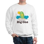 Ready For The Big One Surf Grey White Sweatshirt