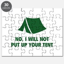 No, I Will Not Put Up Your Tent. Puzzle