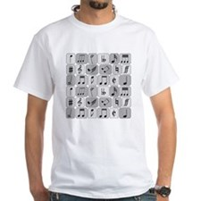 Cool trendy musical notes pattern Shirt