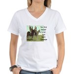 OUR FIRST TEACHER Women's V-Neck T-Shirt