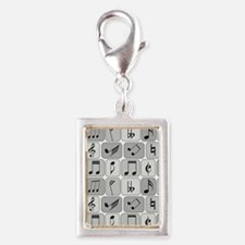 Cool trendy musical notes pattern Charms