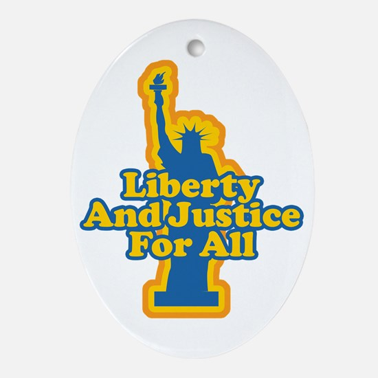 Liberty and Justice Oval Ornament