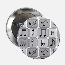 "Cool trendy musical notes p 2.25"" Button (10 pack)"