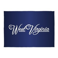 West Virginia State of Mine 5'x7'Area Rug