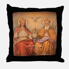 Holy Trinity Scutum Fidei Throw Pillow