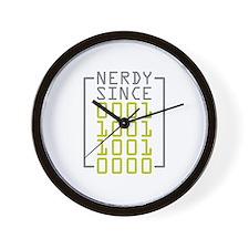 Nerdy Since 1990 Wall Clock