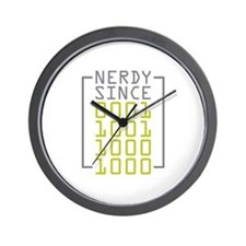 Nerdy Since 1988 Wall Clock
