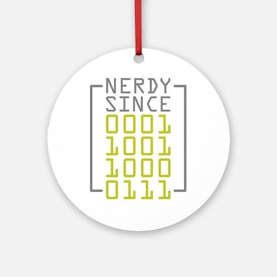Nerdy Since 1987 Ornament (Round)