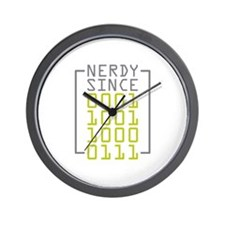 Nerdy Since 1987 Wall Clock